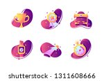 set icons with winner cup ...   Shutterstock .eps vector #1311608666