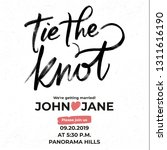 ink tie the knot lettering... | Shutterstock .eps vector #1311616190