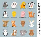 cute baby animals cartoon cubs... | Shutterstock . vector #1311618476