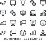 bold stroke vector icon set  ... | Shutterstock .eps vector #1311628436