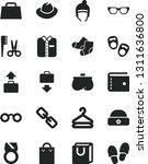 solid black vector icon set  ... | Shutterstock .eps vector #1311636800
