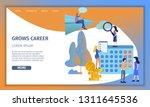 business man grow up corporate... | Shutterstock .eps vector #1311645536