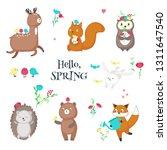 spring animals. vector... | Shutterstock .eps vector #1311647540