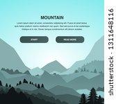 hiking landing page vector idea.... | Shutterstock .eps vector #1311648116
