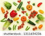 fresh raw ingredients for salad ... | Shutterstock . vector #1311654236