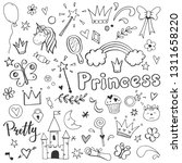 hand drawn set of fairy tale... | Shutterstock .eps vector #1311658220