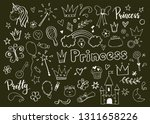 hand drawn set of fairy tale... | Shutterstock .eps vector #1311658226