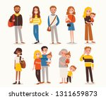 set of people in different...   Shutterstock .eps vector #1311659873