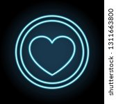 heart neon icon. simple thin...