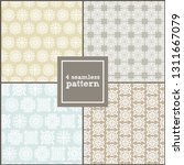 set of four simple patterns.... | Shutterstock .eps vector #1311667079