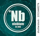 niobium chemical element. sign... | Shutterstock .eps vector #1311668276