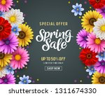 spring sale and special offer... | Shutterstock .eps vector #1311674330