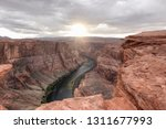 a view of the horseshoe bend at ...   Shutterstock . vector #1311677993
