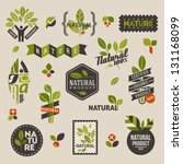 nature themed labels and badges ...
