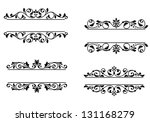 header frame with retro floral... | Shutterstock .eps vector #131168279