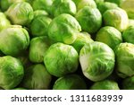 pile of fresh brussels sprouts... | Shutterstock . vector #1311683939