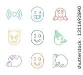emotion icons. trendy 9 emotion ... | Shutterstock .eps vector #1311692840
