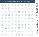 100 natural icons. trendy... | Shutterstock .eps vector #1311692843