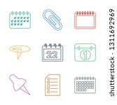 reminder icons. trendy 9... | Shutterstock .eps vector #1311692969