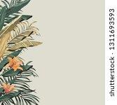 tropical exotic green  golden... | Shutterstock .eps vector #1311693593