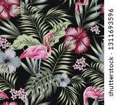 beautiful tropical bird pink... | Shutterstock .eps vector #1311693596