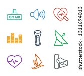 9 wave icons. trendy wave icons ... | Shutterstock .eps vector #1311694013