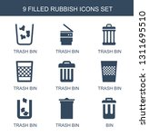 9 rubbish icons. trendy rubbish ... | Shutterstock .eps vector #1311695510