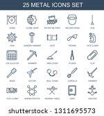 25 metal icons. trendy metal...   Shutterstock .eps vector #1311695573