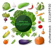big vegetable icon set. onion ... | Shutterstock . vector #1311695930