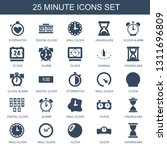 minute icons. trendy 25 minute... | Shutterstock .eps vector #1311696809
