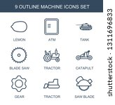 machine icons. trendy 9 machine ... | Shutterstock .eps vector #1311696833