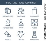 piece icons. trendy 9 piece... | Shutterstock .eps vector #1311697049