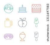 9 tasty icons. trendy tasty... | Shutterstock .eps vector #1311697583