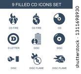 9 cd icons. trendy cd icons... | Shutterstock .eps vector #1311698930