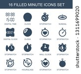 minute icons. trendy 16 minute... | Shutterstock .eps vector #1311699020
