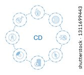 cd icons. trendy 8 cd icons.... | Shutterstock .eps vector #1311699443