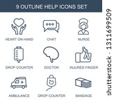 9 help icons. trendy help icons ... | Shutterstock .eps vector #1311699509