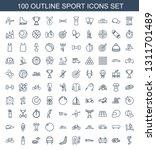 sport icons. trendy 100 sport...   Shutterstock .eps vector #1311701489
