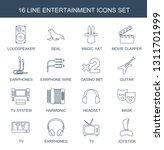 16 entertainment icons. trendy... | Shutterstock .eps vector #1311701999
