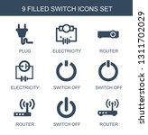 9 switch icons. trendy switch... | Shutterstock .eps vector #1311702029