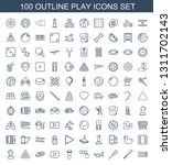 100 play icons. trendy play... | Shutterstock .eps vector #1311702143