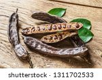 Carob Pods And Carob Beans On...