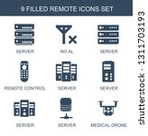9 remote icons. trendy remote... | Shutterstock .eps vector #1311703193