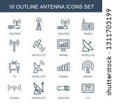 antenna icons. trendy 16...   Shutterstock .eps vector #1311703199
