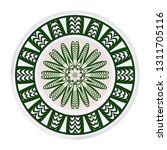 decorative round color ornament ... | Shutterstock .eps vector #1311705116