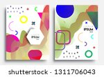 modern abstract covers set.... | Shutterstock .eps vector #1311706043