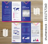 tri fold brochure mock up ... | Shutterstock .eps vector #1311717260
