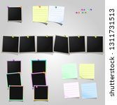 a large set of polaroid square... | Shutterstock .eps vector #1311731513
