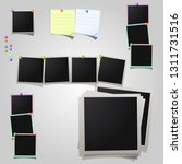 a large set of polaroid square... | Shutterstock .eps vector #1311731516