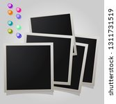 a large set of polaroid square... | Shutterstock .eps vector #1311731519